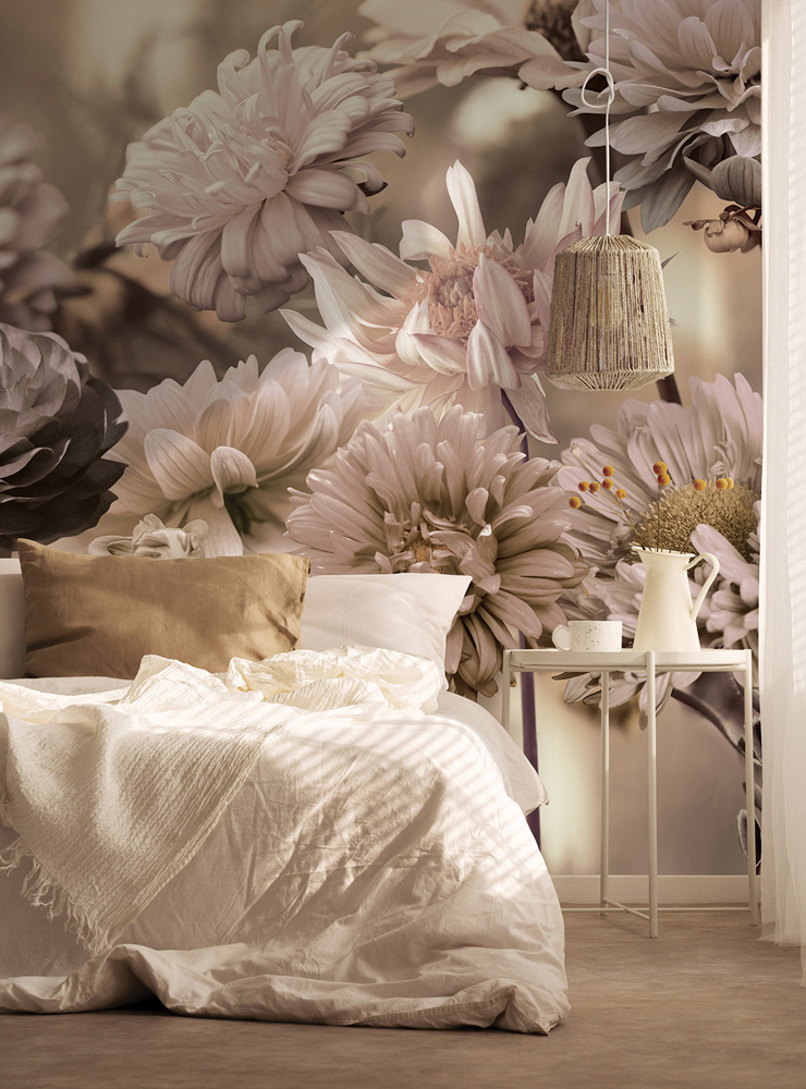 PrintsbyNature-Bedroom-Natural-Flowers-Dahlia-Cozy-Wallpaper-Flowerfield